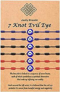 Pingyongchang 6Pcs Evil Eye Bracelet for Women Good Beaded Luck String Bracelet Protection Friendship Wish Bracelet Jewelr...