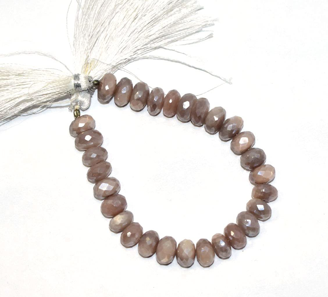 New product!! Natural Pink Coated Moonstone Faceted 9-9.50mm G Max 66% OFF Approx Rondelle