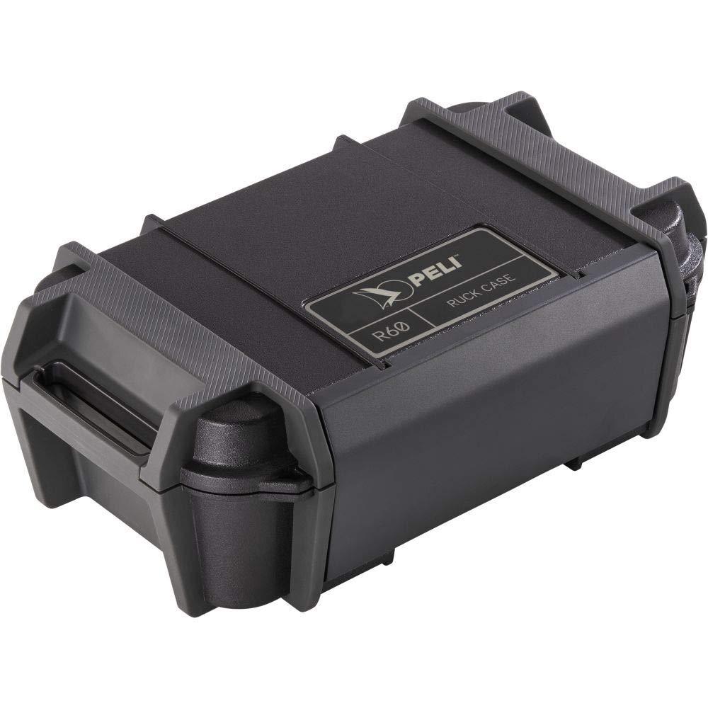 PELI R60 Caja pequeña para la protección de pertenencias personales como el móvil, Herramientas o pequeños Equipos electrónicos, IP68 estanca e Impermeable al Polvo, Capacidad: 2,32L, Color: Negro: Amazon.es: Electrónica