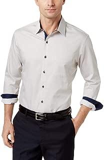 Tasso Elba Mens Cotton Pinstriped Button-Down Shirt