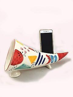 Handmade Corno napoletano portafortuna gphone in ceramica amplificazione del suono per ascoltare musica con il tuo smartphone