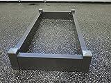 TMK-Handel Grabeinfassung/Grabumrandung - Variante 2 / Größe 120 x 60 cm - Urnengrab aus Aluminium