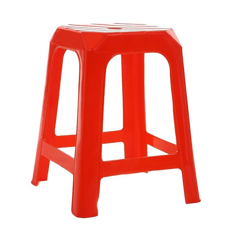 退屈させる不毛のを通してNina スタッキングチェア アジアン 屋台風 椅子 【赤 26×26×44cm】 アウトレット 傷あり