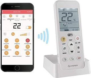 STEREN RM-700 Control Remoto Universal Wi-Fi para Aire Acondicionado, con batería Recargable y Linterna LED