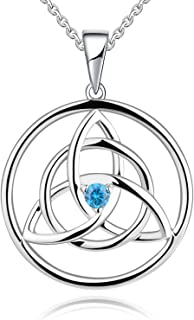 Celtic Knot Necklace 925 Sterling Silver Created...