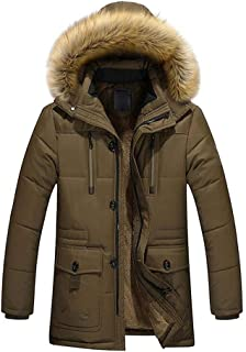 Targogo Giacche Ntel da Uomo Ispessimento Manica Lunga Imbottita da Abbigliamento Uomo Vintage con Imbottitura Calda Inver...