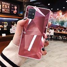 URFEDA Compatibel met Samsung Galaxy A71 telefoonhoesje Diamond Glitter Case met spiegeleffect Sparkly Bling TPU Siliconen...