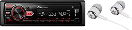 Pioneer MVH-295BT Stereo Single DIN Bluetooth In-Dash USB MP3 Auxiliary AM/