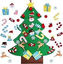PartyTalk DIY Felt Christmas Tree with Ornaments, 3ft Felt Christmas Tree for Kids, Xmas Gifts and Christmas Door Wall Hanging Decor