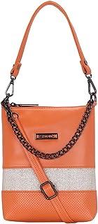 ESBEDA Orange Color Lace Glitter Slingbag For Women