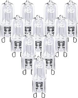 Dehobo Ampoule Halogène G9 33W Blanc Chaud 2800K 480LM 230V Dimmable Lampe Halogène G9 Capsule Filament Lot de 10
