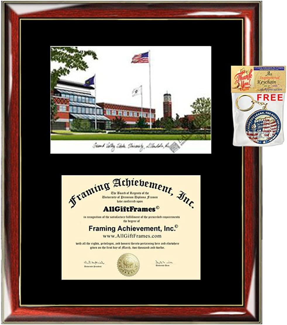 2021 spring and summer new Grand Valley State University Japan's largest assortment GVSU Pr Lithograph Frame Diploma -