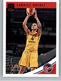2019 Donruss WNBA #61 Candice Dupree Indiana Fever Basketball Trading Card