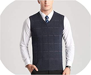 Solarphoenix Pullover Sweaters Vest Men V Neck Slim Jacquard Wool Sweater Sleeveless Pullovers