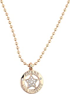 Guess ladies necklace with pendant brass zirconia transparent 90 cm - UBN21607