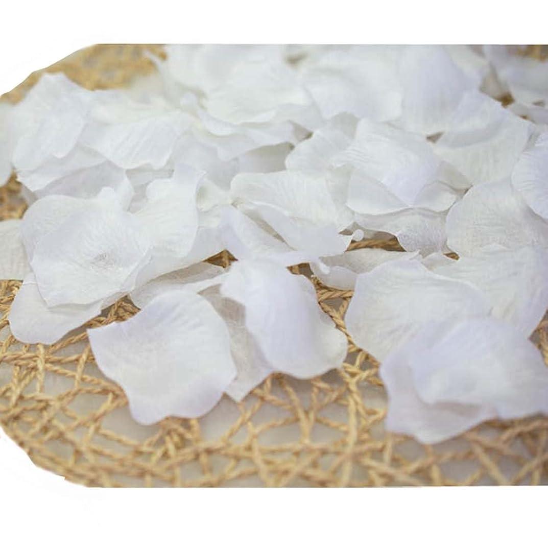 検索エンジンマーケティング染色ストローク結婚式のための人工花びら白840のセット