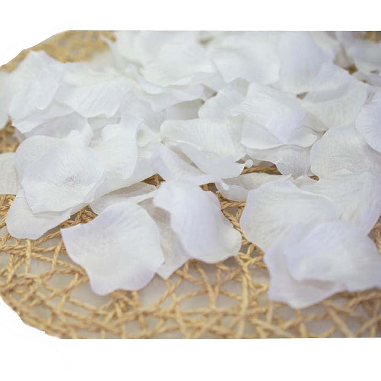 トン生き残り解釈的結婚式のための人工花びら白840のセット