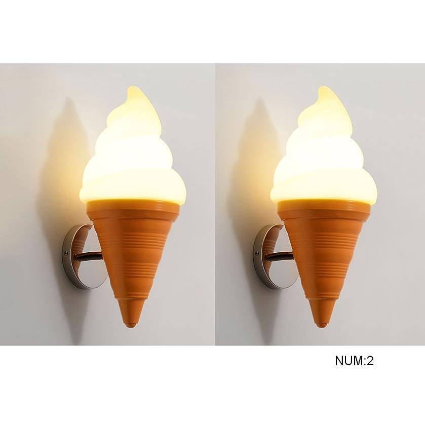 摂氏度カメ物語ラオハオ アイスクリームコーン調節可能なコニカルウォールランプ現代のデザートショップ子供部屋カフェレストランバーE27創造的な壁ライトサイズ:19 * 43リビングルームの寝室の廊下 ウォールウォッシャー (UnitCount : NUM2)
