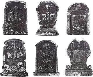 TOYANDONA 6ピース泡墓石ハロウィン装飾プロップ墓石飾りお化け屋敷ヤードパーティー用品ランダムスタイル