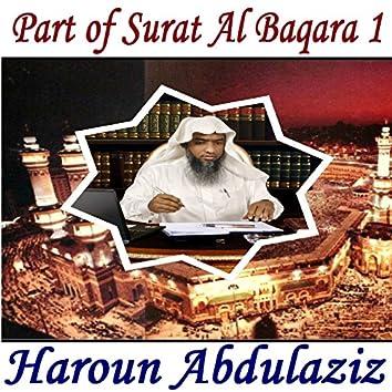 Part of Surat Al Baqara 1 (Quran)