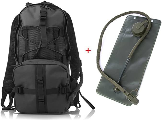 Lounayy Double épaule 2 5L Sac à Dos Randonnée Eau De Mode Sac à Dos élégant Sac De Plein Air Vélo Vélo De Sport Sportswear Escalade Randonnée Camping (Couleur   noir, Taille   One Taille)