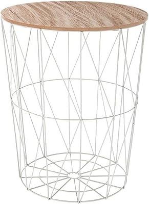 Mesa de Centro de Hierro Forjado Octogonal, Vidrio Templado ...