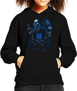 Alien Queen Predator Collage Kid's Hooded Sweatshirt