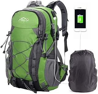 OcioDual Mochila Azul Oscuro 60 litros 60L Impermeable con Cierres Asas y Correas de Seguridad Senderismo Trekking Camping