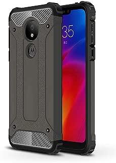 Soft Pattern Cell Phone Basic Cases Phone Case For Motorola Moto G7 Power Magic Armor TPU + PC Combination Case For Men Women Girl Boy (Color : Bronze)