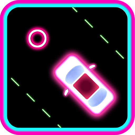 Neon Saga de la Carrera de 2 Coches