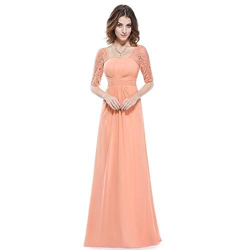 c327cc71c45 Ever-Pretty Half Sleeve Square Neckline Ruched Waist Evening Dress 08038