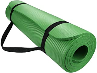 15mm Non-Slip Yoga Sport Mat Exercise Fitness Pilates Workout Cushion Thick (Green)