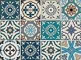 Adhesivos decorativos para paredes y azulejos, set de 12 piezas, satén, 15 x 15 cm