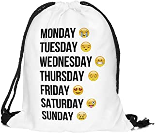 Emojis Backpack Gym Bag Drawstring Rucksack Shoulder Bags