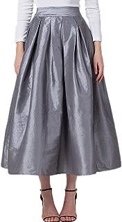 gray satin skirt