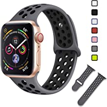 Lintelek Sport Loop Band Compatible with Apple Watch 38mm 42mm 40mm 44mm, Light Weight Silicone Replacement Straps for iWatch Series 1/2/3/4 Small Large