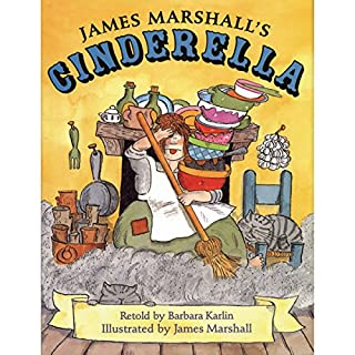 Cinderella, James Marshall's audiobook cover art