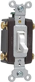 Legrand - Pass & Seymour 664WGCC12 Four Way Toggle Grounding Switch 15-Amp 120-volt, White