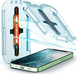 Spigen Tempered Glass Screen Protector [Glas.tR EZ Fit] designed for iPhone 12 Mini (2020) [5.4 inch] [Case Friendly] - 2 ...