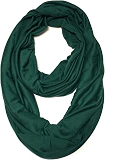 ALLYDREW Soft Lightweight Jersey Knit Solid Color Infinity Scarf Jersey Circle Scarf
