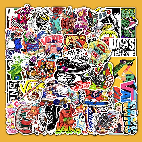 WWLL 52 Cartoon Graffiti Notebook Computer Mobile Phone Tablet Skateboard Luggage Tide Brand Waterproof Removable Hand Account Stickers