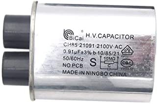 Meter Star CQC Universal Household Microwave HV Capacitor Replacement 2100V 0.91uF MFD Compatible ch85 21091 AC H.V.Capaci...
