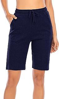 MIDOSOO Women's Activewear Lounge Bermuda Shorts Gym Jogger Yoga Shorts with Pockets