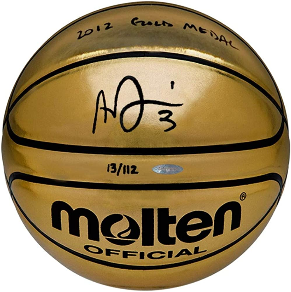 Anthony Davis Signed Save money INSCRIBED 2012 Golden Molten B Recommended Medal Gold