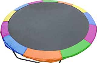 Trampoline 12ft Replacement Reinforced Outdoor Round Spring Pad Cover - Rainbow