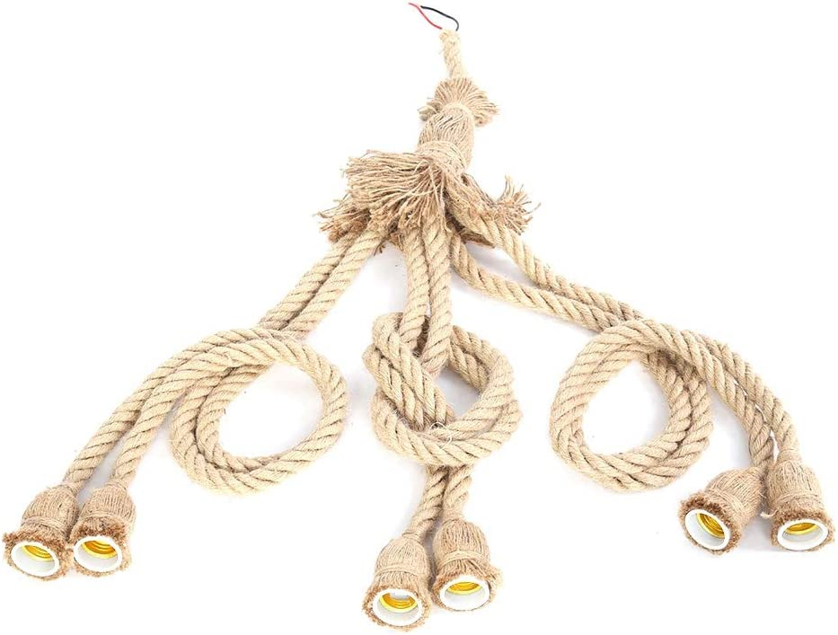 DIY Pendant Eco-Friendly Bulb Natural Holder Houston Mall Ranking integrated 1st place Rope Ceiling
