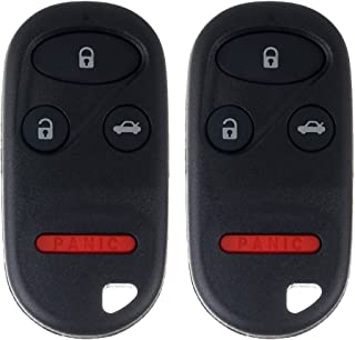 ECCPP Replacement fit for Keyless Entry Remote Key Fob Acura TL/Honda Accord KOBUTAH2T (Pack of 2)