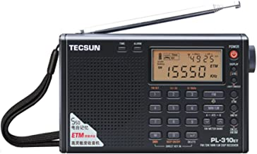 TECSUN PL-310ET FM Stereo/SW/MW/LW World Band PLL DSP Radio Black by allnice