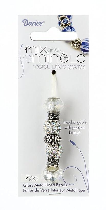 Mix and Mingle BG3265 Mix N Mingle Metal Crystal Ab Beads 7Pc