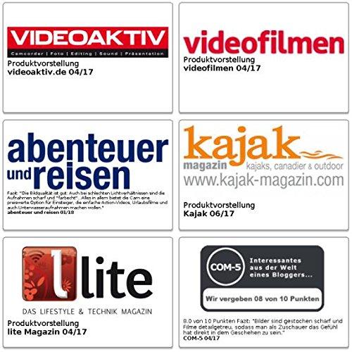 Somikon Aktion Kamera: Einsteiger-4K-Action-Cam, WLAN, 2 Displays, Full HD 60 B./Sek, IP68 (4K Kamera)